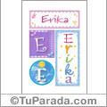 Erika - carteles e iniciales