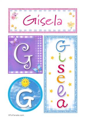 Gisela - Carteles e iniciales