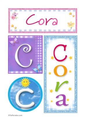 Cora - Carteles e iniciales