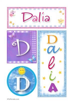 Dalia - Carteles e iniciales