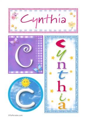 Cynthia - Carteles e iniciales