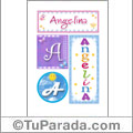 Angelina - Carteles e iniciales