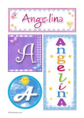 Angelina - Carteles e iniciales