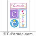 Consuelo - Carteles e iniciales