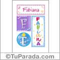 Fabiana - Carteles e iniciales