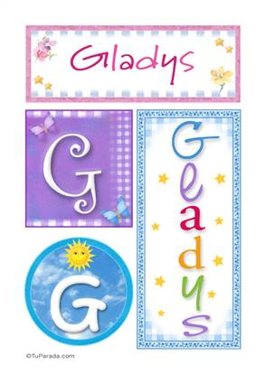 Gladys, nombre, imagen para imprimir