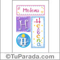 Helena, nombre, imagen para imprimir