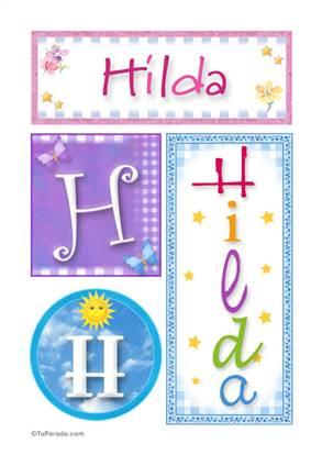 Hilda, nombre, imagen para imprimir