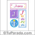 Juana, nombre, imagen para imprimir