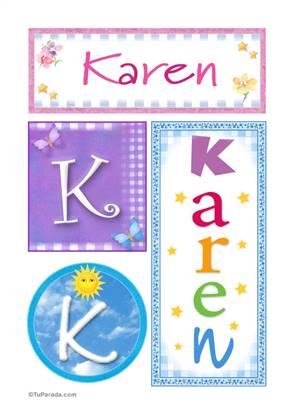 Karen, nombre, imagen para imprimir