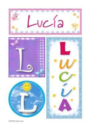Lucia, nombre, imagen para imprimir