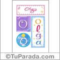 Olga, nombre, imagen para imprimir