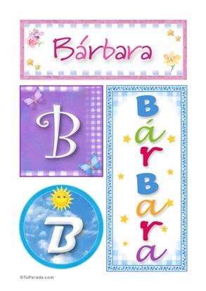 Bárbara, nombre, imagen para imprimir