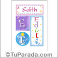 Edith, nombre, imagen para imprimir