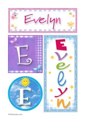 Evelyn, nombre, imagen para imprimir
