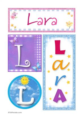 Lara, nombre, imagen para imprimir