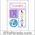Lourdes, nombre, imagen para imprimir
