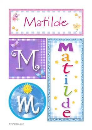 Matilde, nombre, imagen para imprimir