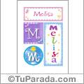 Melisa, nombre, imagen para imprimir