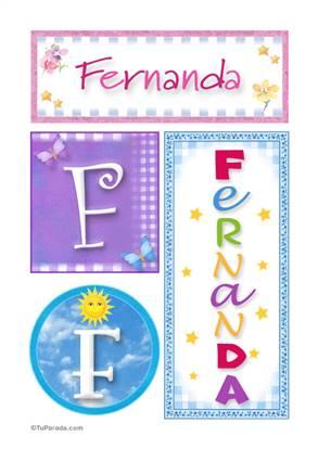 Fernanda, nombre, imagen para imprimir