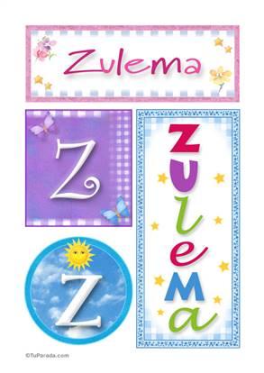 Zulema, nombre, imagen para imprimir