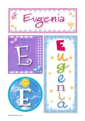 Eugenia, nombre, imagen para imprimir