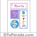 Berta, nombre, imagen para imprimir