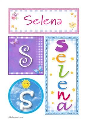 Selena, nombre, imagen para imprimir