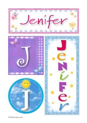 Jenifer, nombre, imagen para imprimir