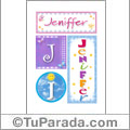 Jeniffer, nombre, imagen para imprimir