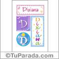 Dixiana, nombre, imagen para imprimir