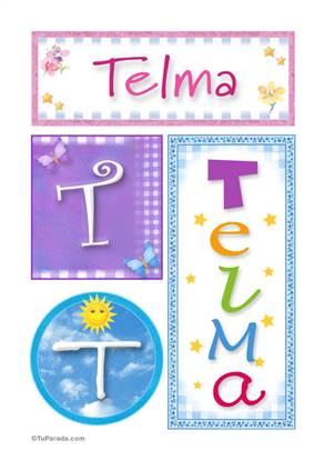 Telma, nombre, imagen para imprimir
