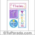 Thelma , nombre, imagen para imprimir