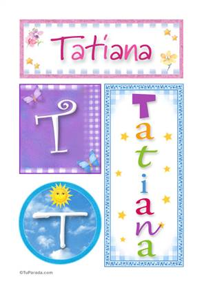 Tatiana, nombre, imagen para imprimir