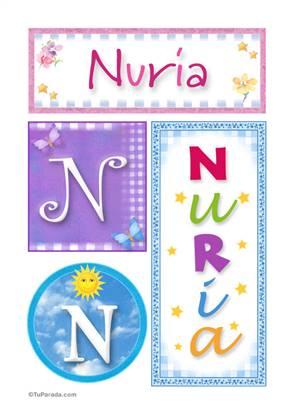 Nuria, nombre, imagen para imprimir