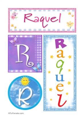Raquel, nombre, imagen para imprimir