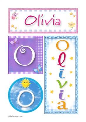 Olivia, nombre, imagen para imprimir