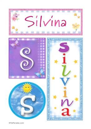 Silvina, nombre, imagen para imprimir