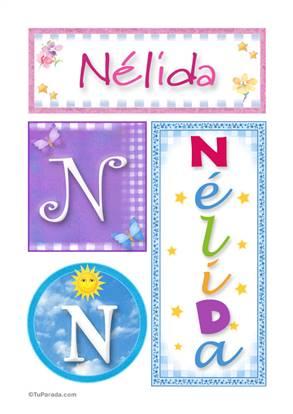 Nélida, nombre, imagen para imprimir