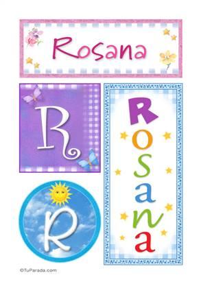 Rosana, nombre, imagen para imprimir