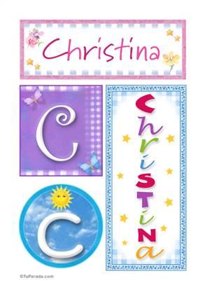 Christina, nombre, imagen para imprimir