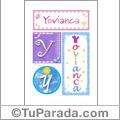 Yovianca, nombre, imagen para imprimir