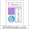 Gisele, nombre, imagen para imprimir