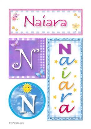 Naiara, nombre, imagen para imprimir