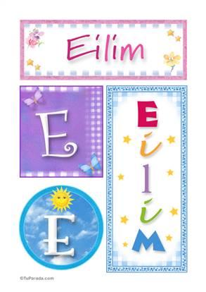 Eilim, nombre, imagen para imprimir