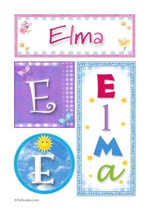 Elma, nombre, imagen para imprimir