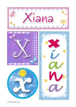 Xiana, nombre, imagen para imprimir