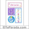 Griselda, nombre, imagen para imprimir