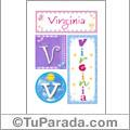 Virginia, nombre, imagen para imprimir