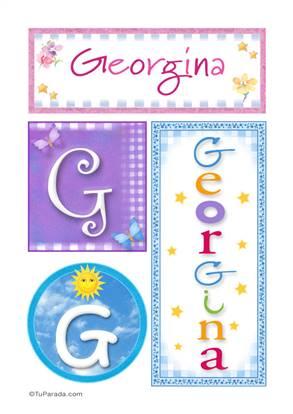 Georgina, nombre, imagen para imprimir